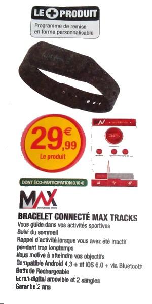 Bracelet connecté MAX TRACKS 01