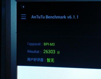 M3 Antutu Benchmark résultat