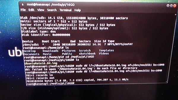 M3 partie5-Ubuntu Mate 16.04 installation NAND