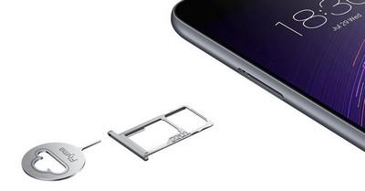 MEIZU M2 les emplacements SIM et micro SD